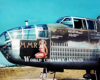 USAAF WW2 B-25 Mitchell Bomber MMR #2 8x10 Color Nose Art Photo 321st (Usaaf Bomber)