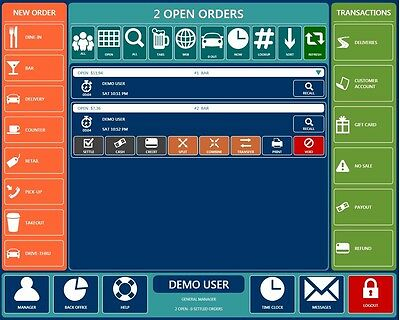 Restaurant Cobra Pos Software - Chip Card Tip Adjustment After Transaction. Yes