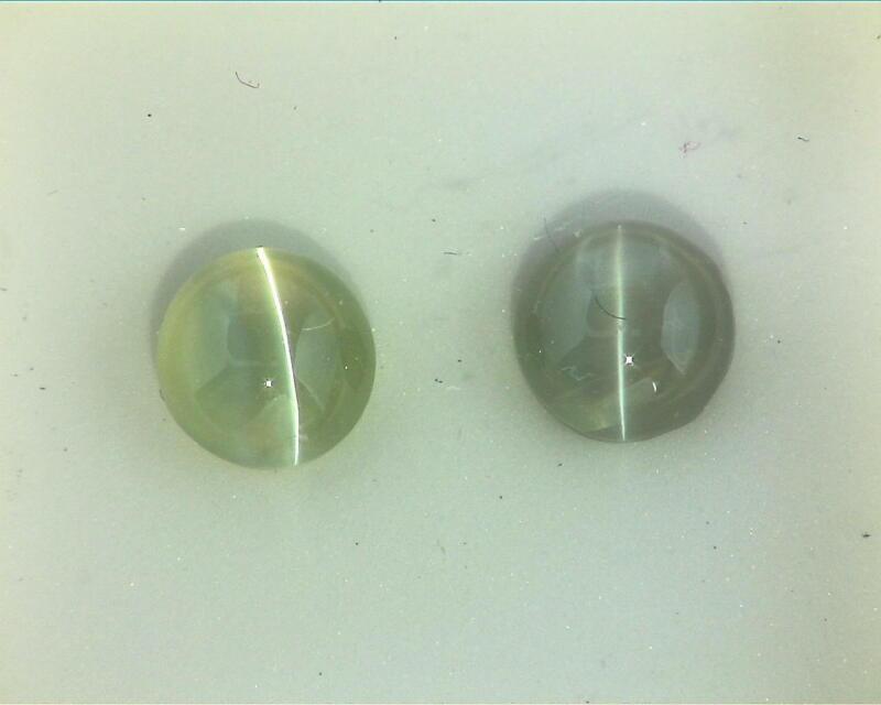 Cats Eye 4.54 KT Natural Genuine Gemstones Matched Pair GSG,130