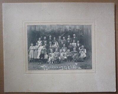 altes Personen-Gruppenfoto - Raum Kulmbach - Kupferberg - 1924 - TK120-0619