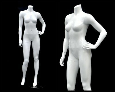 Female Fiberglass Headless Petite mannequin Body Dress Form #MD-GPX03BW1