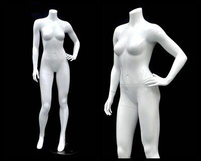 Female Fiberglass Headless Petite Mannequin Body Dress Form Md-gpx03bw1