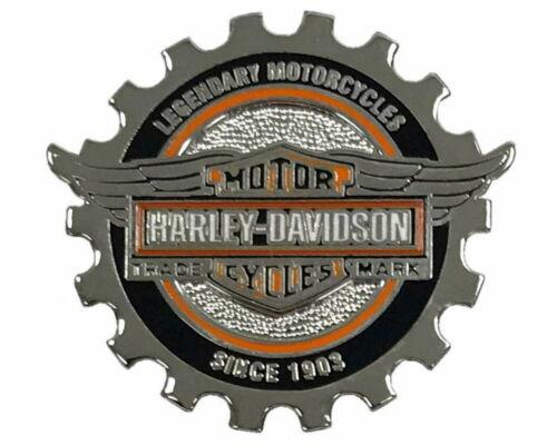 Harley Davidson® Bar & Shield Winged Gear Vest Pin Silver Finish