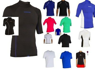 TRIBORD MENS LADIES RASH SUN UV 50+ PROTECTION TOP VEST T-SHIRT SURF SWIM DIVING