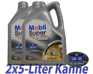 Mobil Super 3000 XE 5W-30 2x 5 Liter Kanne, BMW LL04, MB 229.51, Dexos2
