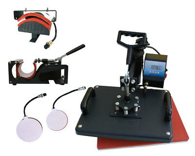5-1 Heat Press Machine Transfer Sublimation Print T-shirt Mug Hat Plate Capusa