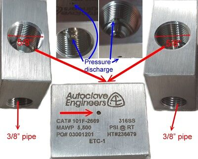 Parker Autoclave Engineers Cat 101f-2669 5500 Psirt Valve Body For 38