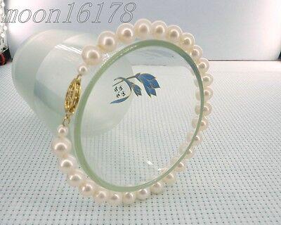 - cultured 7mm white aaa grade akoya genuine pearl bracelet 6