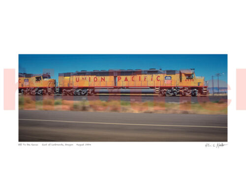 """Union Pacific """"Centennial"""" loco """"off to the races"""", 16X20"""" print by Kooistra"""