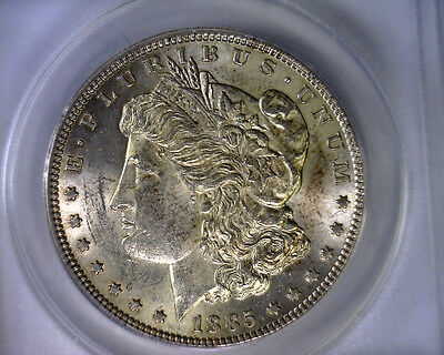 1885 ANACS AU58 HOT 50 VAM 1A2 MORGAN SILVER DOLLAR UNITED STATES COIN