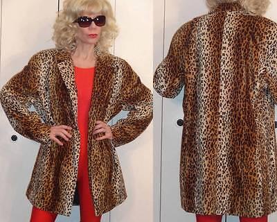 (CLIO 2 SUIT Leopard Cheetah Animal Print Soft Velvet Long Jacket Coat 12)