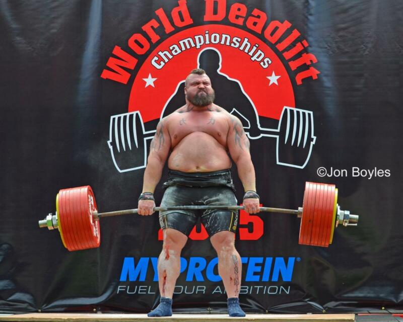"EDDIE HALL - DEADLIFT WALL POSTER STRONGEST MAN MUSCLE PRINT 20""X16"" OR 40""X32"""