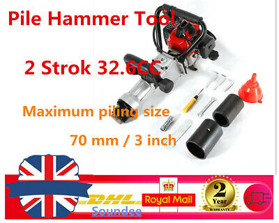 900W 2 Stroke T-Post Petrol Rammer Pile Driver Fence Post Farm Fencing Tool SALE