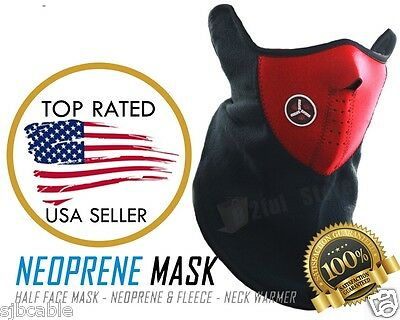 New Neopren Winter Neck Warm Face Mask Veil Sport Motorcycle Ski Biker Mask Red Clothing