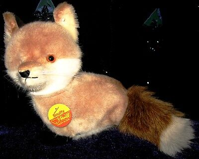 """Steiff - """"Snuffy the Fox"""" at  7"""" in height with Tag & Button"""