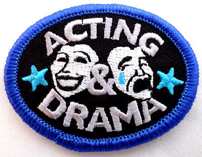 Girl Scout Patch Acting Drama Face Masks Oval Uniform Patch  Gsbl