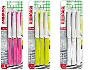 Set 6 coltelli da tavola kaimano dinamik lama dentata - Coltelli da tavola lama liscia ...