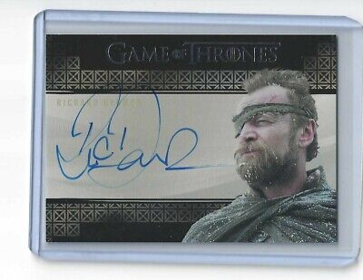 RICHARD DORMER as Ser Beric Dondarrion 2019 Game of Thrones Inflexions Autograph
