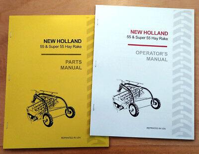 New Holland 55 Super Hay Rake Operators And Parts Manual Catalog Book Sperry Nh