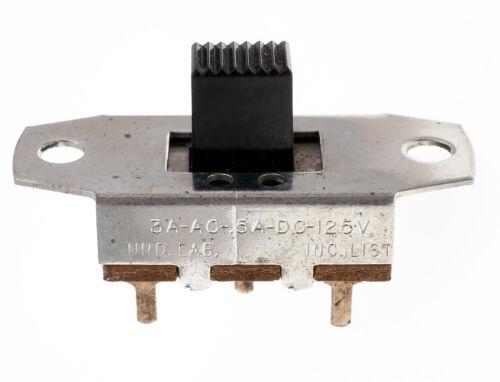 Continental Wirt SPDT Slide Switch Panel Mount 3A AC/0.5A DC 125V, NOS