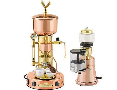 Elektra Semiautomatica Microcasa Machinegrinder Ms Italian Espresso Set 220v