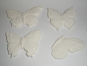 New Lot of 4 butterflies  Glass Fusing / draping kiln molds