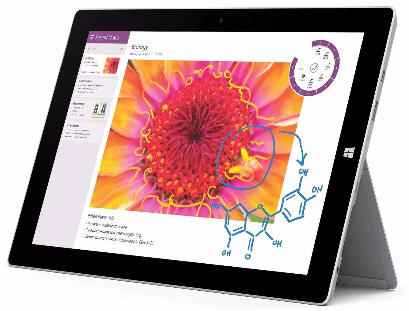 Microsoft Surface 3 128GB, Wi-Fi, 10.8in - Silver, bundled items