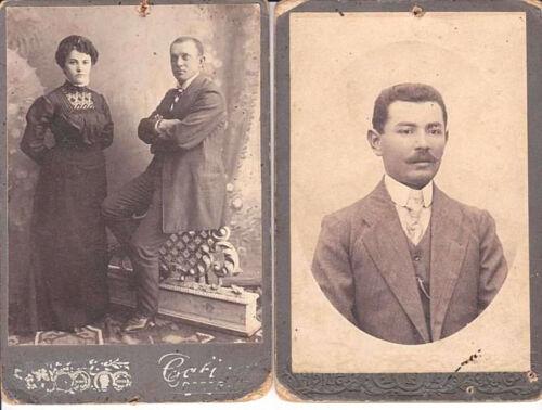 JUDAICA 2 RUSSIAN ANTIQUE CABINET PHOTOS OF JEWISH PEOPLE Liepaja Latvia 1912