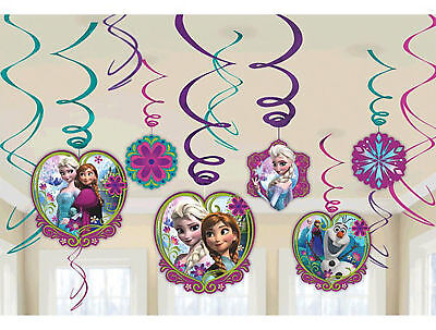 Decorations Of Frozen (Lot of 5 DISNEY FROZEN SWIRL DECORATIONS / 6 FOIL / 7