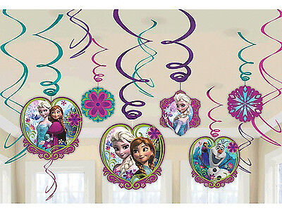 Disney FROZEN Anna Elsa Hanging Swirl Decorations Birthday Party Supplies Favors](Frozen Birthday Party Decorations)