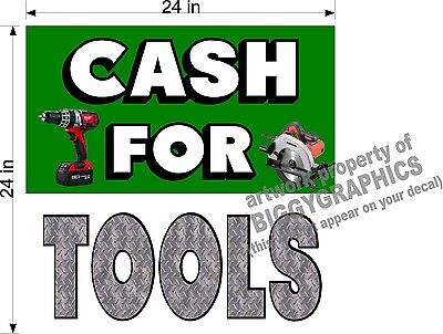 Perforated Window Vinyl Decal 2 X 2 Graphic Cash For Tools