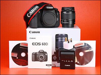 Canon EOS 60D DSLR Camera +18-55mm III Zoom Lens Kit +Box 2,268 Shots + 1080p HD