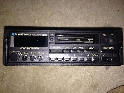 Blaupunkt San Francisco SQR28 AM/FM Cassette Car Stereo VINTAGE RARE COLLECTIBLE