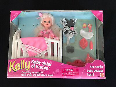 Mattel Kelly Sister of Barbie~ Bedtime/Dress-up Accessories Set ~NEW, SEALED BOX