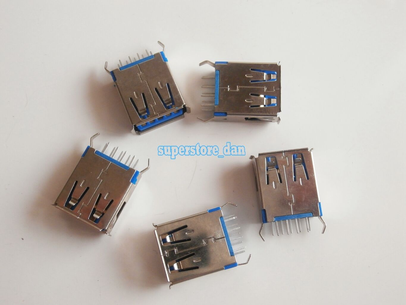 5X USB 3.0 Female Type-A 9 Pin 180° SMT SMD DIP USB Connector 2 Legs