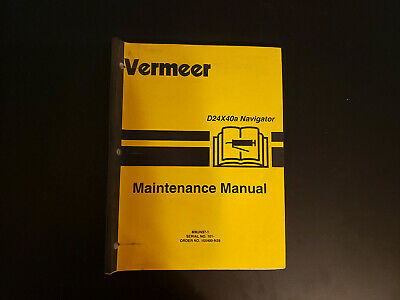 Used Vermeer D24x40a Maintenance Manual