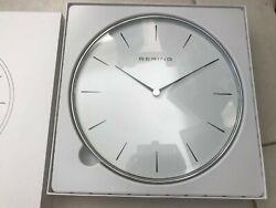 Bering Wall Clock Analog Quartz 90292-04R 292mm Silver-Tone Modern Designer