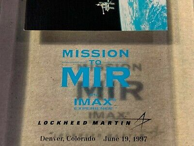 Mission to MIR an IMAX Experience ~ Lockheed Martin Denver CO 1997 ~ Lucite