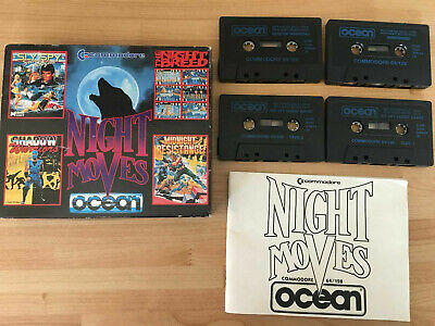 Commodore 64 C64 Game - Night Moves Big Box Night Breed / Shadow Warriors +more