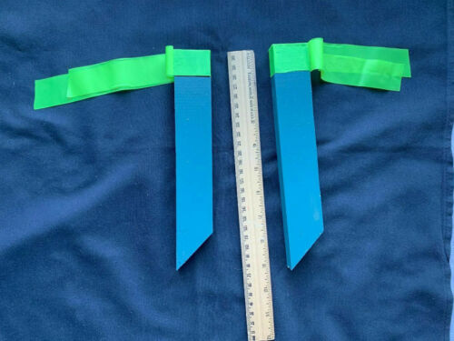(2) Geocaching Survey Markers Containers with Nanos, Just Place in Ground cache