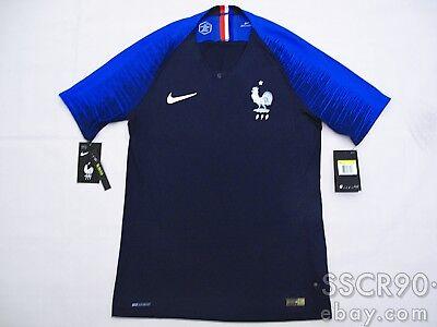 e039cddd994 NIKE France 2018 VAPORKNIT Home Player Issue Match Jersey 893874-451 World  Champ