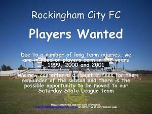 Rockingham City Football Club - Under 18's Required Port Kennedy Rockingham Area Preview