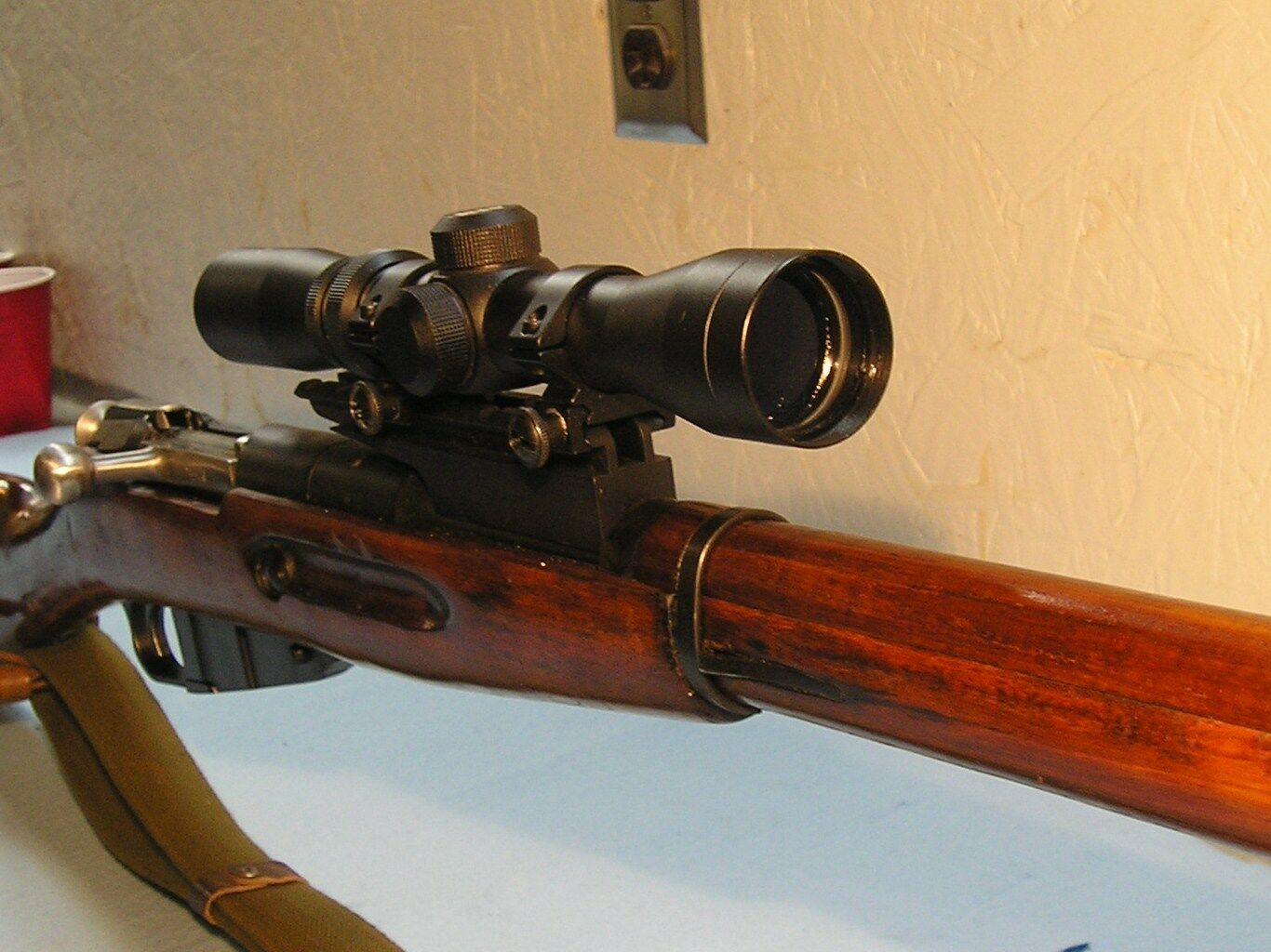 Mosin Nagant Scout Mount For The 91/30, See Through, Rear Sight Machined In Base