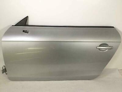 FRONT DOOR AUDI TT CONVERTIBLE 08-15 LH DRIVER SIDE ICE SILVER LX7W