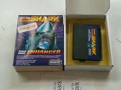 SEGA SATURN GAME SHARK INTERACT CHEAT CODES CHEATING ON GAMES MINT CONDITION