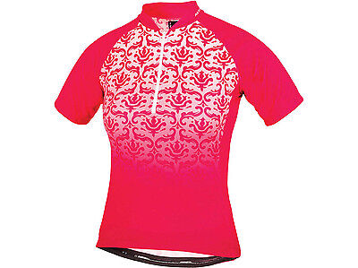 Altura de Mujer Barroco Manga Corta Jersey Ciclismo - Frambuesa Talla 10