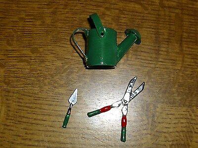 Gartenset 3-teiliges incl. Gießkanne - Miniatur 1:12 - Puppenhaus