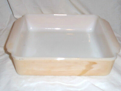 VINTAGE FIRE KING PEACH SQUARE BROWNIE 8 INCH DISH