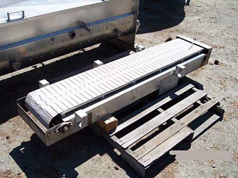 Conveyor 12 in wide by 5ft 6 in long, S/S, plastic chain