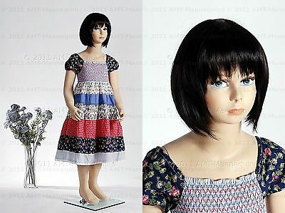 Child Mannequin Girl 45 Years Old Hand Made Fiberglass Fullbody Manikin-molly